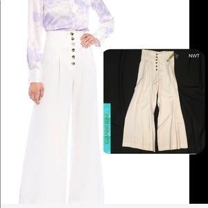 NWT •Gianni Bini Button Twill High Waist Pant